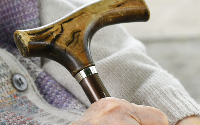 杖、ステッキで健康長寿
